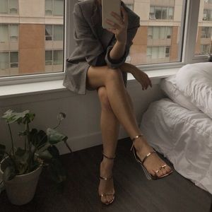 Strappy Rose Gold High Heels by Lulu's